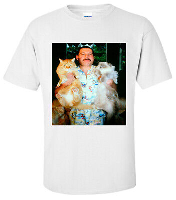 SHIRT FREDDIE MERCURY WITH CATS QUEEN T Shirt SMALL,MEDIUM,LARGE,XL