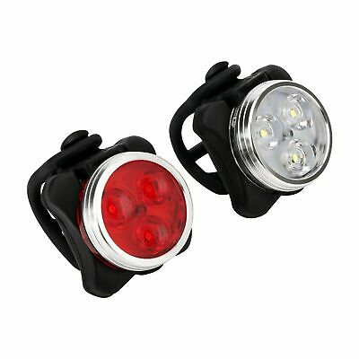 IPX4 Waterproof Bicycle Bike Light Front Rear Tail Light Lamp USB Rechargeable E