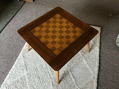 Astounding Teak Chess Board Top Coffee Table 1960S 36 00 Picclick Uk Gmtry Best Dining Table And Chair Ideas Images Gmtryco