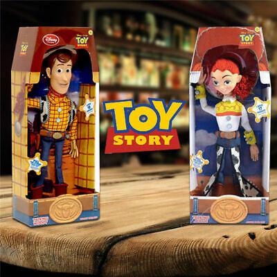 "Toy Story WOODY JESSIE Doll 15"" Talking Action Figure Kids Toy Xams Gift Set"
