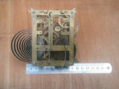 Antique VTG Genuine Complete Clock Movement Parts Restoration Project Decor