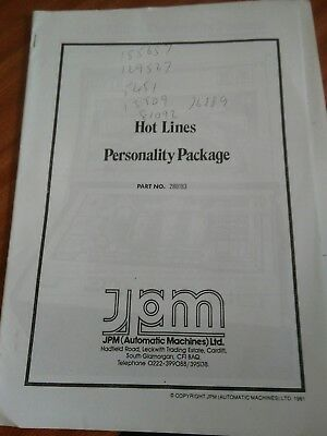 jpm sys80 hot lines fruit machine service manual