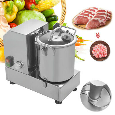 6L Food Cutting Machine Commercial Food Processor Table Cutter Mixer 750W