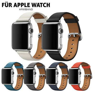 Für Apple Watch Leder Single Tour Armband iWatch Series 4 3 2 1 44 /42/40/38mm