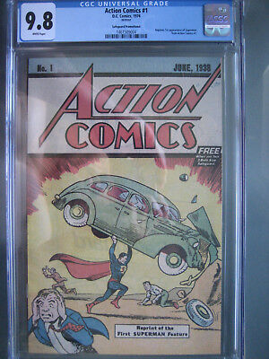 Action Comics #1 Safeguard Promotional Reprint CGC 9.8 WP 1976 1st app Superman
