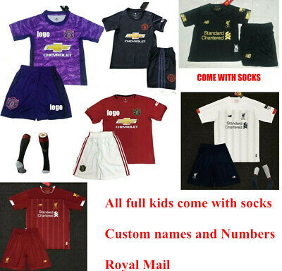 491fe99f8 2019 Football Kits Soccer Suits Training Jerseys For Kids Adults SML 3-14Yrs