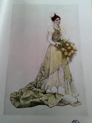1907 Print Lady Stone Wedding Dress by Dora Holme Art Nouveau Studio Magazine