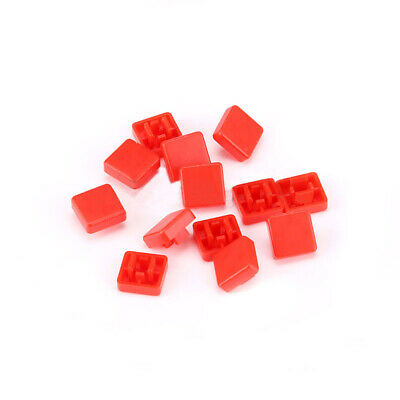 Square Button Cap Red for 12x12x7.3mm Push Button Switch Tact Micro Switch DIY