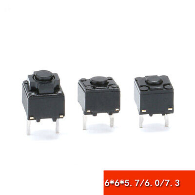 6x6x5.7mm 6x6x6.0mm 6x6x7.3mm Tact Switch Mouse Micro Switch Push Button Switch