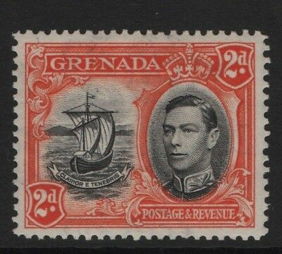 Grenada  SG156 1938 2d Black & Orange Mounted Mint