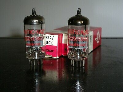 National brand 6922/E88CC valves, pair, NIB, made in Italy.