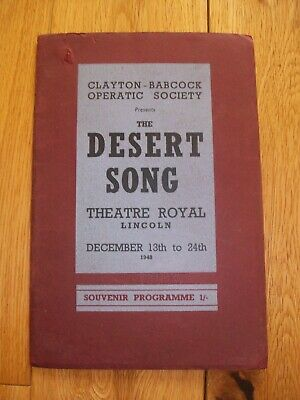 LINCOLN THEATRE ROYAL - 1948 Theatre Programme - The Desert Song