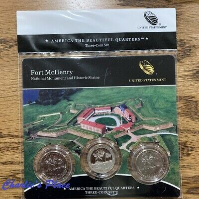 2013-PDS ATB Fort McHenry National Monument and Historic Shrine Quarter 3-Coin S
