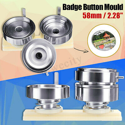 58mm 2.28'' Badge Pin Making Mould Button Maker Punch Press Machine Metal DIY