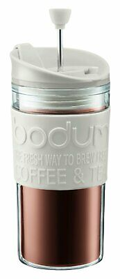Bodum K11102-913 Travel Press Set Coffee Maker with Extra Lid 12 oz White