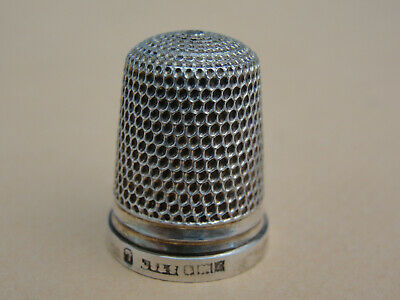 Very Fine Silver THIMBLE. Birmingham 1960 Size 7