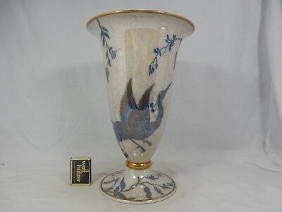 Beautiful Rosenthal Art Déco Paradise Bird / Paradiesvogel Porzellan Vase 1939