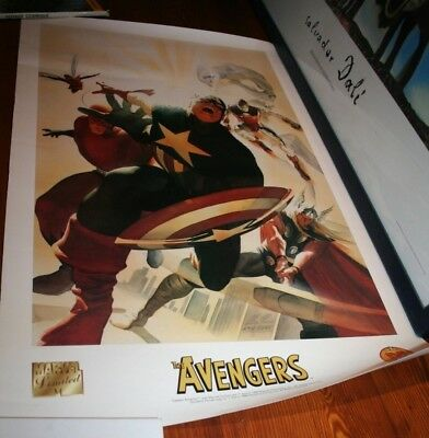 Marvel limited / the Avengers / Lithographie dynamic force 1999 / Capt.América