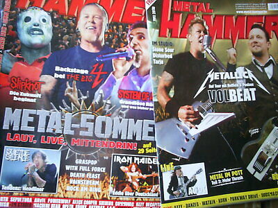 2x METAL HAMMER 2010/2011 METALLICA VOLBEAT IRON MAIDEN AC/DC SOAD DIO POWERWOLF
