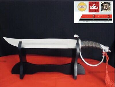 Luxury Champagne Sabre Steel  Edition Sword With Wooden Gift Stand