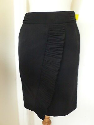 8 Black Front Ruffle Skirt by Next BNWT