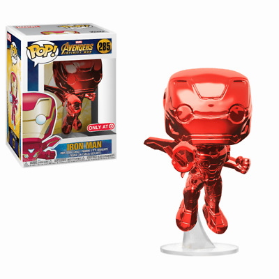 Funko Pop! Marvel - Los Vengadores: Infinity War - Iron Man (Red Chrome) (Lim...