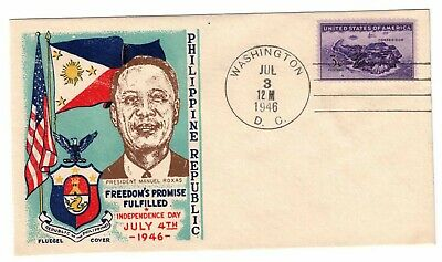 US 1946 Fluegel Cover Philippines Independence