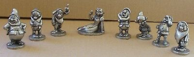 Walt Disney Productions Fine Pewter Snow White and Seven Dwarfs Figurines