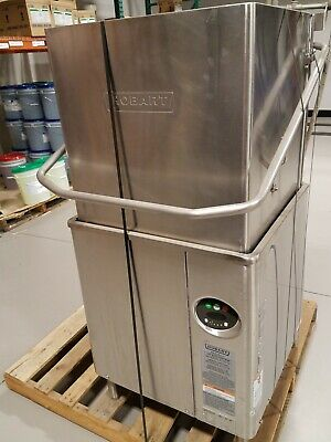 Hobart AM-15 single-rack high temp Dishwasher with tables ~ Utah