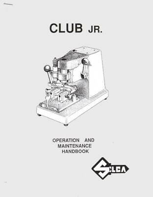 Silca CLUB Junior Key Cutting Machine Manual - PDF or Printed Copy