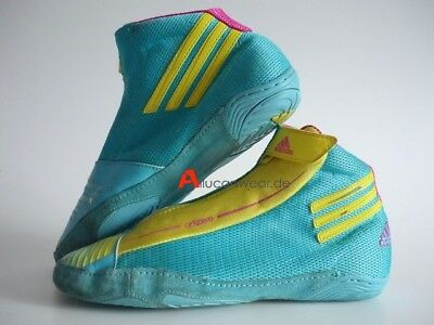 buy popular d79e5 567c9 2012 Adidas Adizero Sydney Wrestling Sport Shoes Hi Tops Boots Teal Combat  Speed