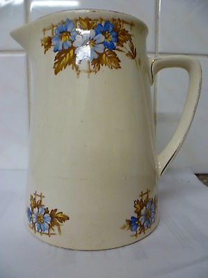 A Pretty Vintage, Cream With Floral Pattern Jug, By 'Winterton' Longton, England