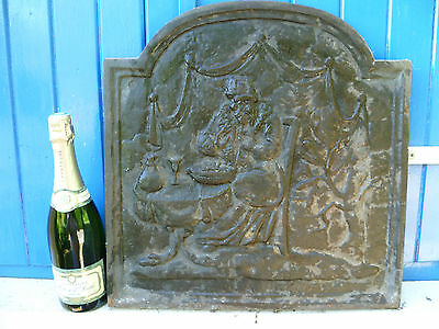 A French Antique, Large / Heavy, Architectural Salvage, Cast Iron Fire-Back