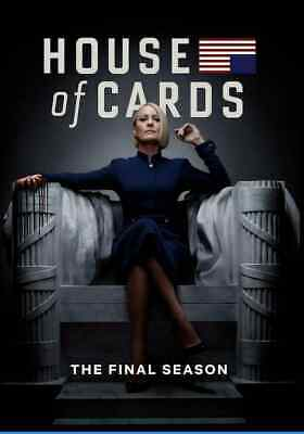 New & Sealed House of Cards: The Final Season 6 (DVD, 2019, 3-Disc Set)