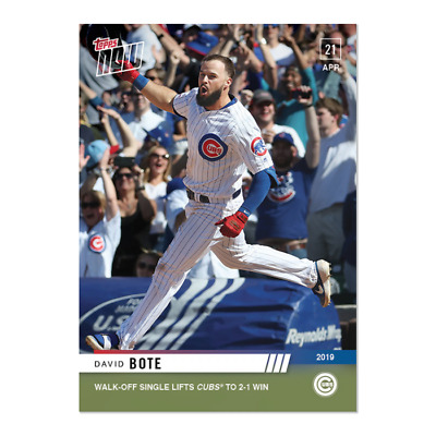 2019 Topps NOW 118 David Bote Chicago Cubs [4.21.19]