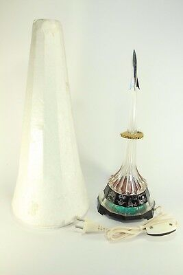 NEW! Vintage Table Night Lamp Light Rocket Space Cosmos Russian USSR Worldwide