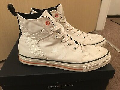 0ecca0cd123f1 Limited Edition Genuine Converse Mens Cream White high top Trainers Size Uk  10.