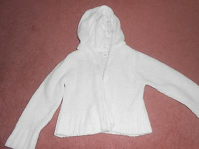 Early Days Girls' cream hooded cardigan, age 6-12 months