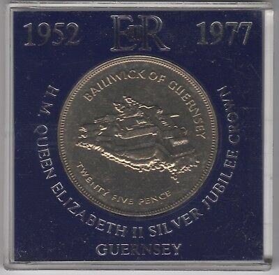 1977 Bailiwick Of Guernsey 25 Pence Cased Coin | Pennies2Pounds