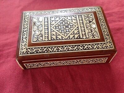 Box With Inlaid Marketry !