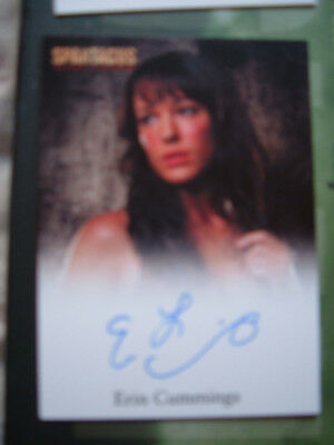 Spartacus Erin Cummings Autograph Card as Sura Blood and Sand