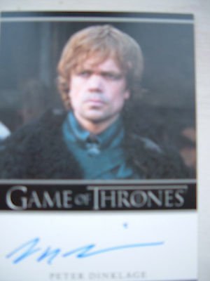 Game of thrones season 1 Peter Dinklage Tyrion Autograph auto Bordered