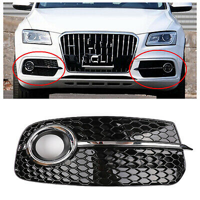 Right SQ5 Style Fog Light Grill Grille For AUDI Q5 13-17 Don't Fit SQ5 &SLINE B2