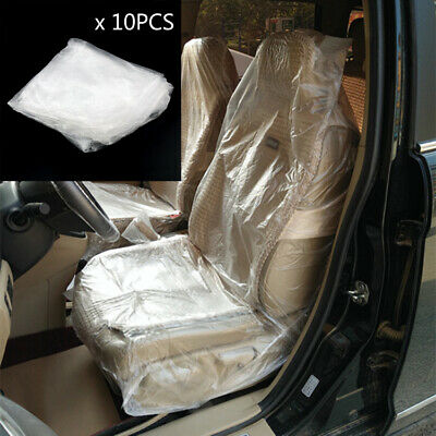 10X Disposable Plastic Car Seat Protective Covers Film For repair BS2 BS2
