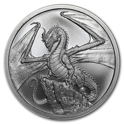 World of Dragons - The Welsh Dragon BU 1 oz Silver Round with Capsule