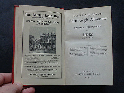 EDINBURGH ALMANAC & NATIONAL REPOSITORY For 1932: Scotland / Advertising / Trade
