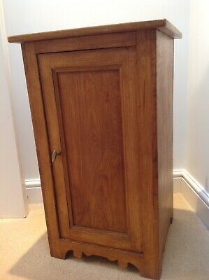 Antique Pot Cupboard Bedside Cabinet Solid Wood