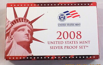 2008 US Mint 14 Coin Silver Proof Set w/ Original Box and CoA