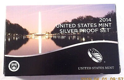 2014 US Mint 14 Coin Silver Proof Set w/ Original Box and CoA