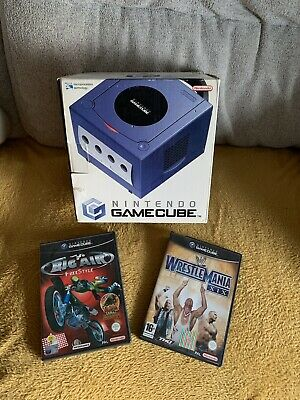 Nintendo GameCube Console, Boxed With All Accessories, Memory Card And 2 Games